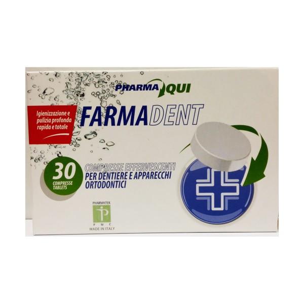 FARMADENT 30 COMPRESSE EFFERVESCENTI PER DENTIERE e APPARECCHI ORTODONTICI, CURA DENTIERE, S131119, 76058