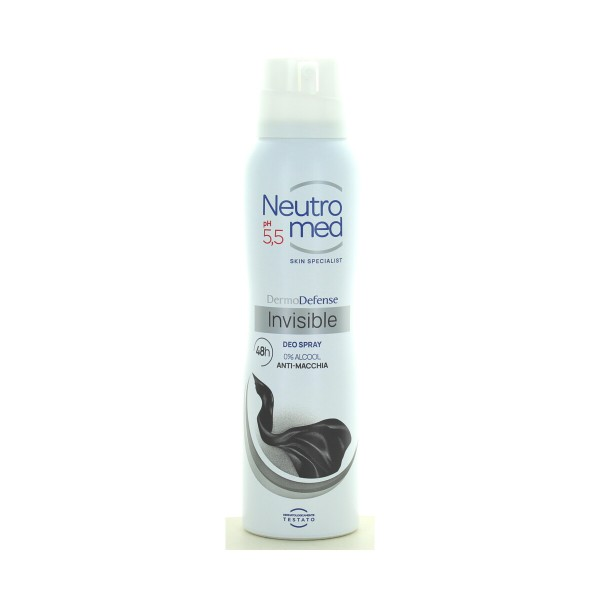 NEUTROMED DEODORANTE SPRAY DERMO DEFENSE 5 AZIONI INVISIBLE 48H 150 ML, DEODORANTI ANTIODORE PER PERSONA, S131023, 76087