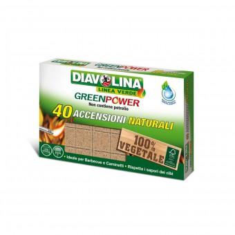 DIAVOLINA GREENPOWER NATURALE 40 ACCENSIONI