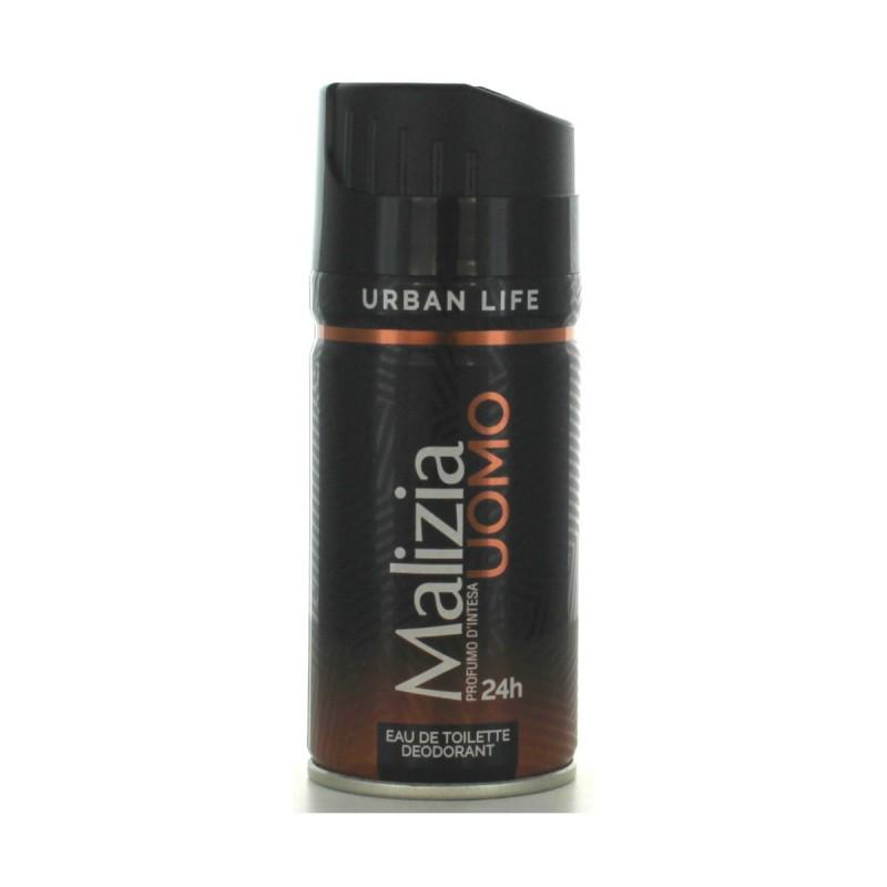 MALIZIA UOMO EDT DEODORANTE 24H URBAN LIFE 150 ML