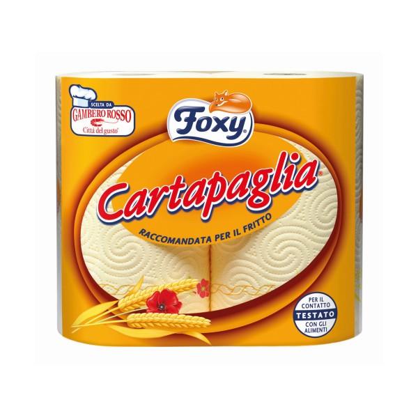 FOXY CARTA PAGLIA CARTA CUCINA 2 ROTOLI 2 VELI DECORATO, ASCIUGAMANI E CARTA CASA, S126921, 76582