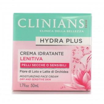 CLINIANS HYDRA BASIC CREMA IDRATANTE LENITIVA CON ACQUA DI ROSE PELLI SECCHE E SENSIBILI 50 ML