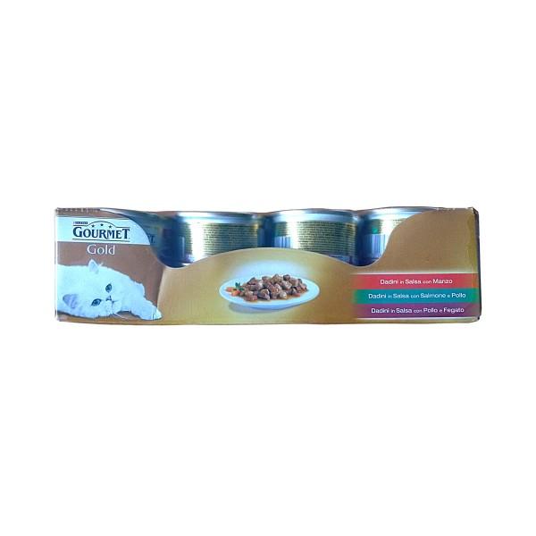 GOURMET GOLD DADINI 85 GR.x 24   (8 pollo - 8 salmone - 8 manzo), NUTRIZIONE, S126204, 76698