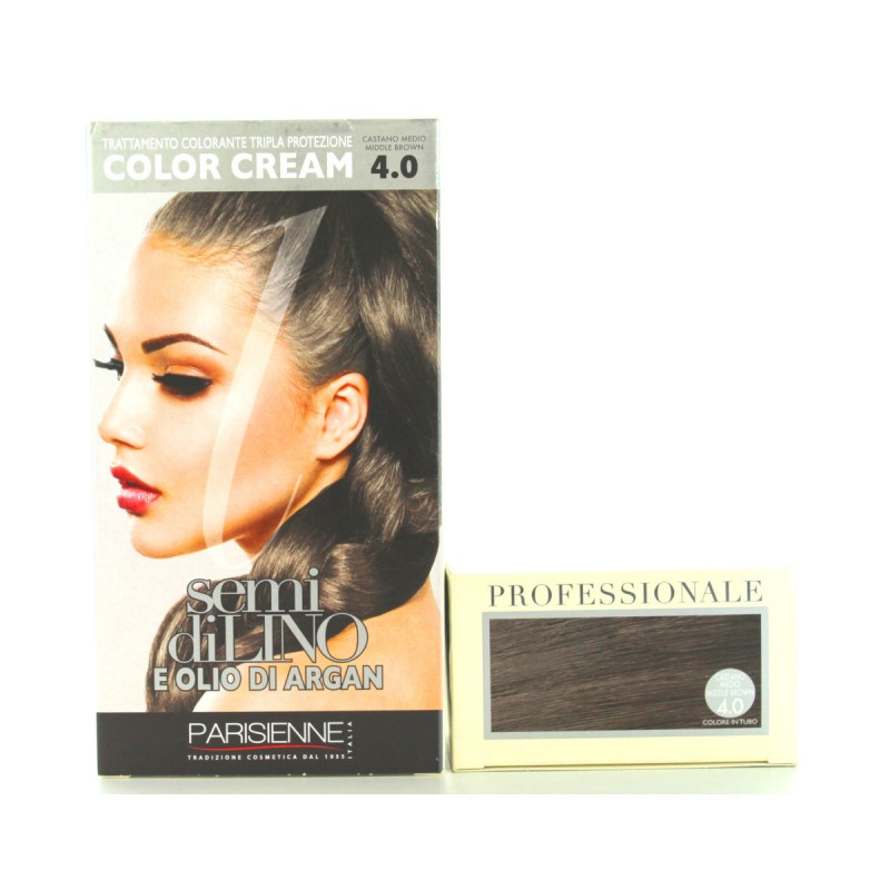 SEMI DI LINO E OLIO DI ARGAN COLOR CREAM 4.0 CASTANO MEDIO