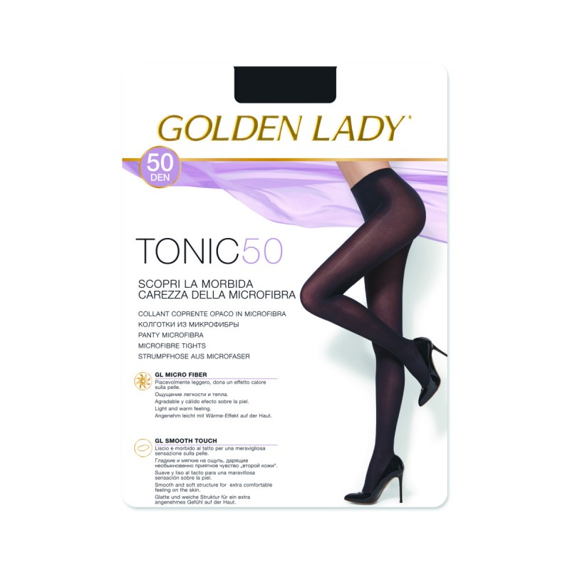 GOLDEN LADY TONIC COLLANT COPRENTE 50 DEN NERO TAGLIA 4