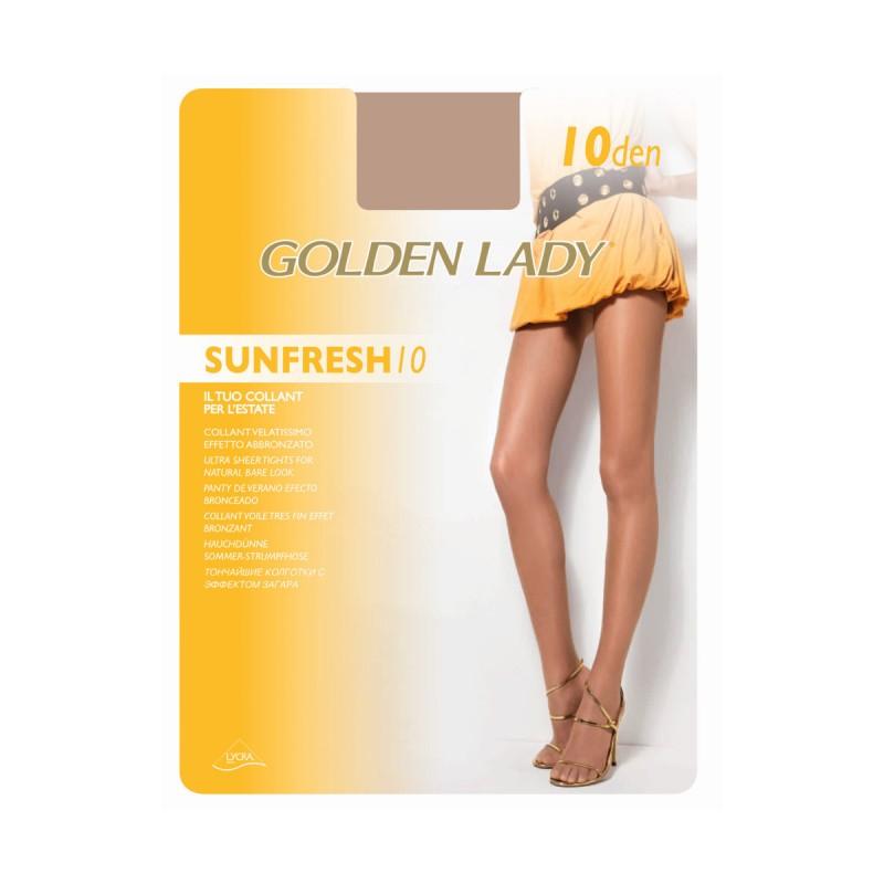 GOLDEN LADY SUNFRESH COLLANT VELATISSIMO 10 DEN NUBIA T.3