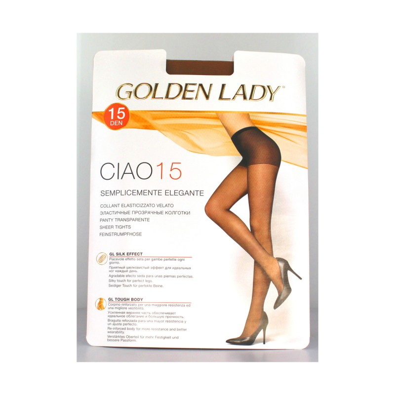 GOLDEN LADY CIAO COLLANT 15 DEN MELON TAGLIA 3