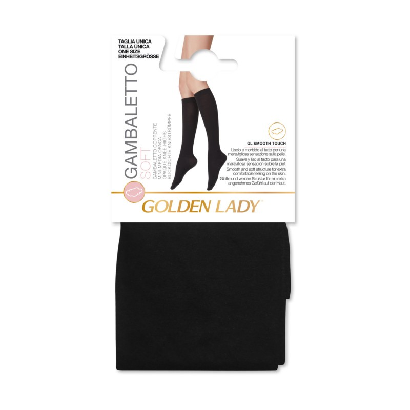 GOLDEN LADY GAMBALETTO SOFT SUPERCOPRENTE NERO TAGLIA UNICA