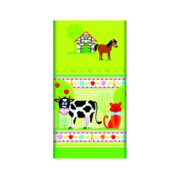 PAPSTAR TOVAGLIA CARTA LITTLE FARM 120x180 CM, ACCESSORI TAVOLA USA E GETTA, S116679, 77453