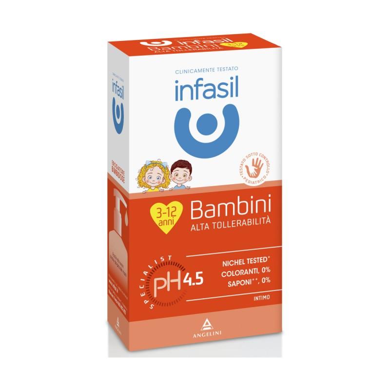 INFASIL DETERGENTE INTIMO BAMBINI 3-12 ANNI PH 4,5 ALTA TOLLERABILITA' 200 ML