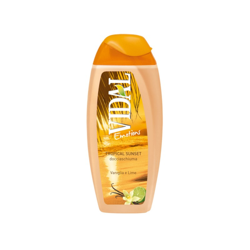 VIDAL DOCCIASCHIUMA EMOTIONS TROPICAL SUNSET VANIGLIA E LIME 250 ML