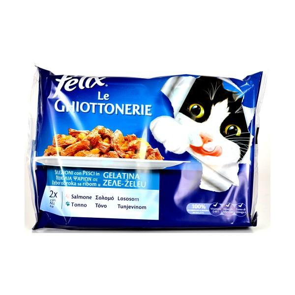 FELIX GATTI LE GHIOTTONERIE SALMONE E TONNO BUSTE 4x100 GRAMMI , NUTRIZIONE, S111030, 77858
