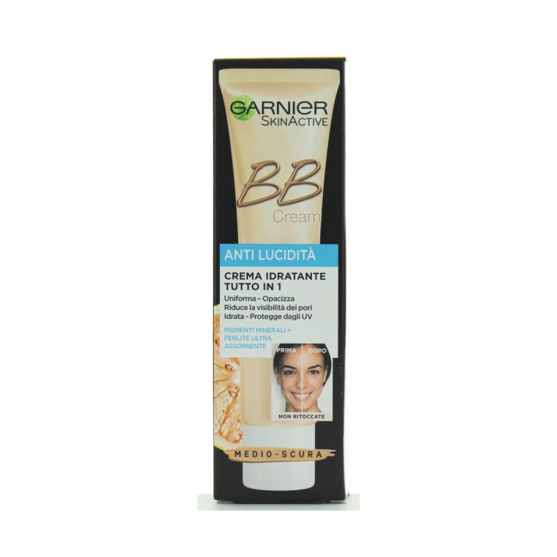 GARNIER BB CREMA IDRATANTE 5in1 PELLI GRASSE SCURA 40 ML.