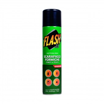 FLASH 23 INSETTICIDA SPRAY SCARAFAGGI FORMICHE CIMICI e PULCI 400 ML