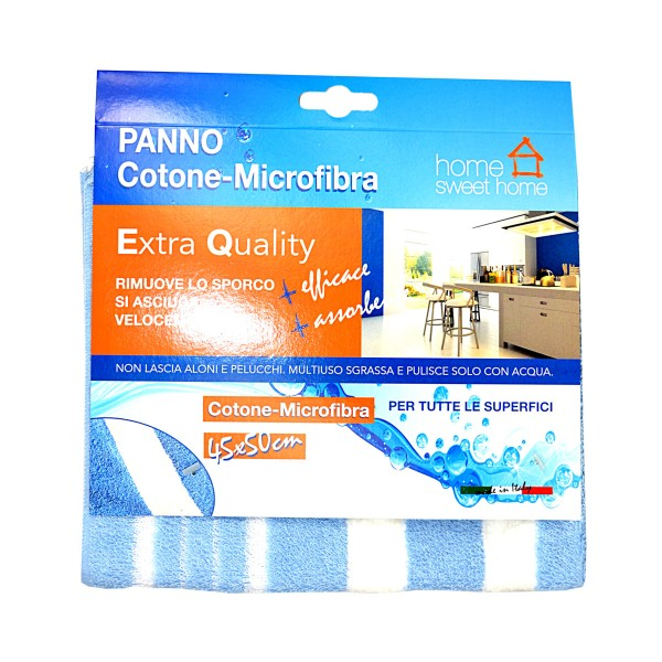 MODINA PANNO PAVIMENTO COTONE MICROFIBBRA 45x50, PANNI VETRO / MULTIUSO, S105089, 78090