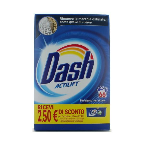 DASH ACTILIFT DETERSIVO BUCATO LAVATRICE IN POLVERE 66 LAVAGGI 3900 grammi, BUCATO LAVATRICE, S133678, 78388