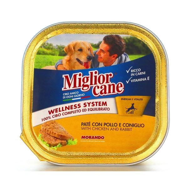 MIGLIOR CANE PATE' CONIGLIOePOLLO VASCHETTA 300 GRAMMI , NUTRIZIONE, S096029, 78452