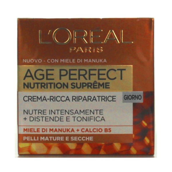 L'OREAL DERMO-EXPERTISE CREMA AGE RE-PERFECT NUTRITION SUPREME PELLI MATURE E SECCHE GIORNO  50ML, CURA VISO DONNA, S089763, 78647