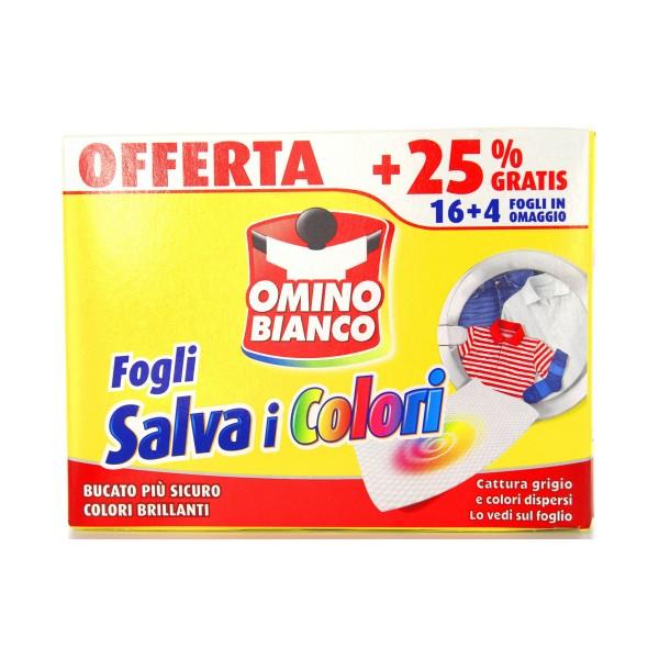 OMINO BIANCO FOGLI SALVA I COLORI 16+4 PZ, TRATTAMENTO BUCATO, S085228, 78759