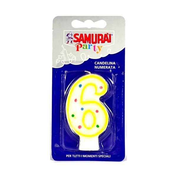 SAMURAI PARTY CANDELA COMPONIBILE N.6, ACCESSORI TAVOLA USA E GETTA, S044160, 79106