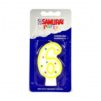 SAMURAI PARTY CANDELA COMPONIBILE N.6