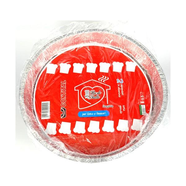 CONTITAL VASCHETTE TORTA GRANDE 2 PEZZI C10G, SACCHETTI / VASCHETTE ALIMENTARI, S043572, 79155