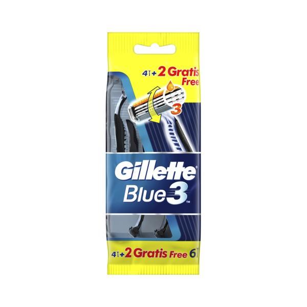 GILLETTE BLUE3 RASOIO USA&GETTA 4+2 PEZZI, LAME E RASOI PER UOMO, S043527, 79158