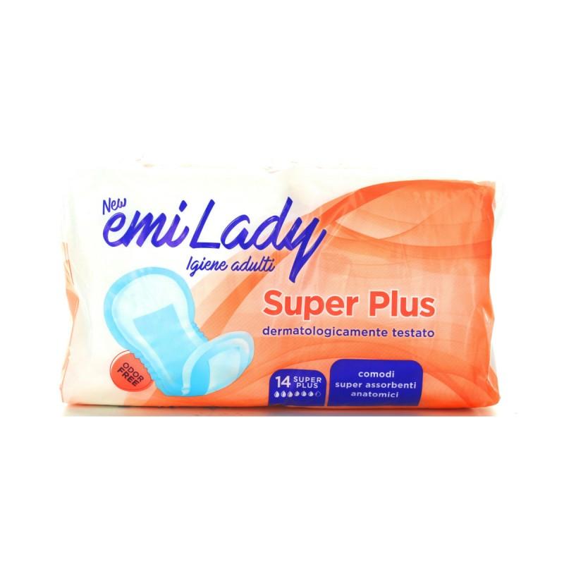 EMI ASSORBENTI LADY SUPER PLUS EXTRA LONG RIPIEGATO 14 PZ DISPOSITIVO MEDICO CE DI CLASSE 1