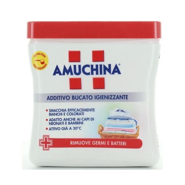 AMUCHINA ADDITIVO DISINFETTANTE POLVERE 500gr     , TRATTAMENTO BUCATO, S042985, 79208