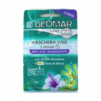 GEOMAR MASCHERA VISO 5 MINUTI ANTIAGE RASSODNATE 15 ML