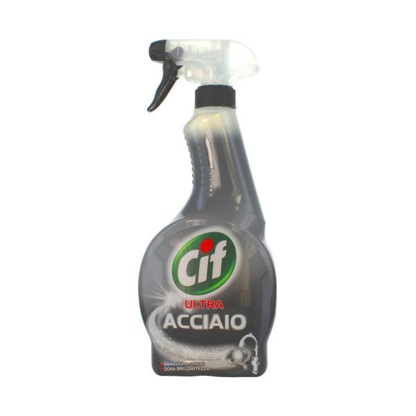 CIF ACCIAIO SPRAY 500 ML., PULITORI METALLI, S037601, 79663