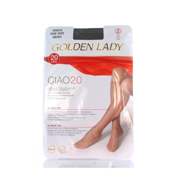 GOLDEN LADY GAMBALETTO CIAO 20DEN 2 PAIA NERO TAGLIA UNICA   , CALZE, COLLANT & GAMBALETTI, S036170, 79745