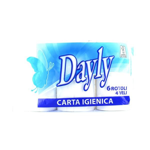 DAYLY CARTA IGIENICA 6 ROTOLI 4 VELI, CARTA IGIENICA, S033996, 79858