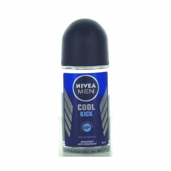 NIVEA FOR MEN DEODORANTE ROLL ON 48H COOL KICK 50 ML