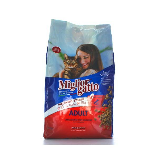 MIGLIOR GATTO ADULT CROCCANTINI SALMONE SACCO 2 KG, NUTRIZIONE, S031862, 79949