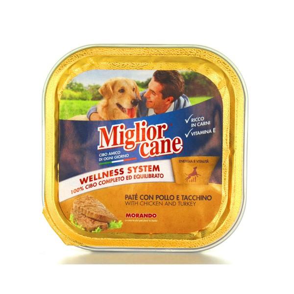 MIGLIOR CANE PATE' POLLOeTACCHINO VASCHETTA 150 GRAMMI, NUTRIZIONE, S029749, 80018