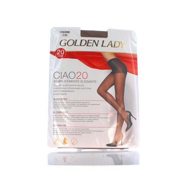 GOLDEN LADY CIAO COOLANT 20 DEN VISONE TAGLIA 3          , CALZE, COLLANT & GAMBALETTI, S027456, 80168