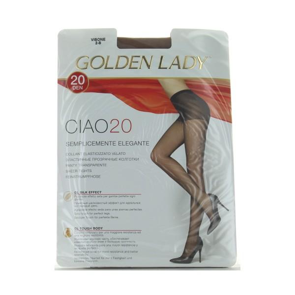 GOLDEN LADY CIAO COLLANT 20 DEN VISONE TAGLIA 2          , CALZE, COLLANT & GAMBALETTI, S027455, 80169