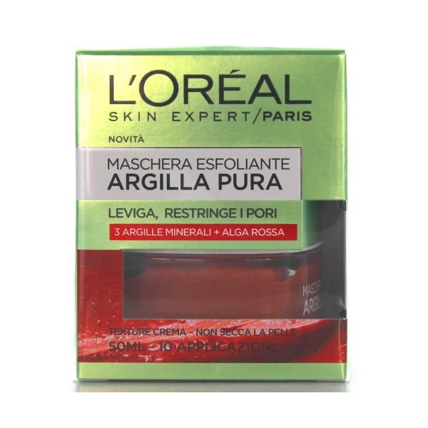 L'OREAL ARGILLA PURA MASCHERA ESFOLLIANTE 50 ML, CURA VISO DONNA, S136640, 80436