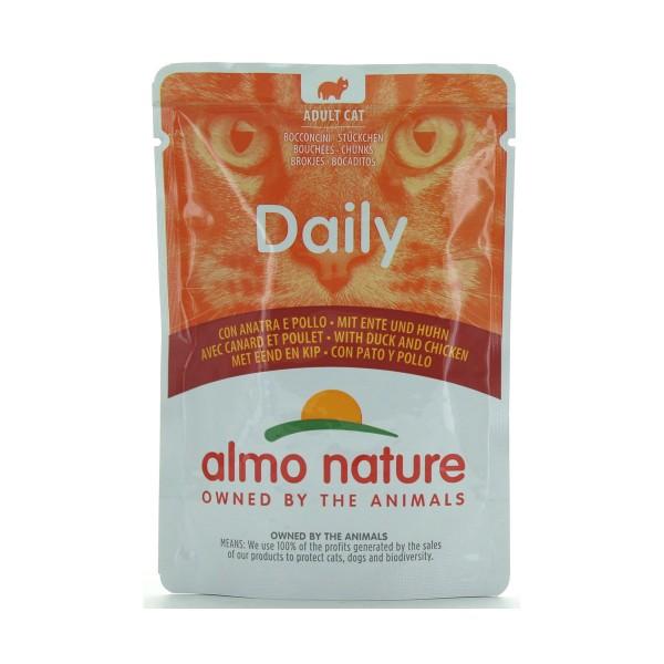 ALMO NATURE GATTI DAILY POLLO-ANATRA BUSTA 70 GRAMMI, NUTRIZIONE, S139384, 80440