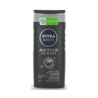 NIVEA FOR MEN DOCCIASCHIUMA GEL SHAMPOO ACTIVE CLEAN 250 ML