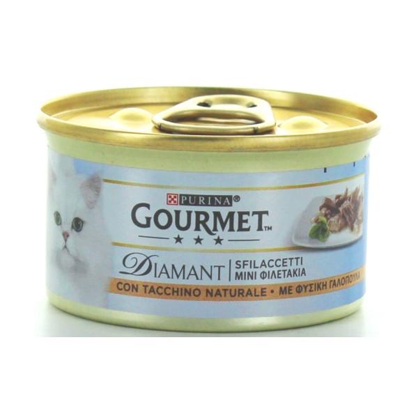 GOURMET DIAMANT SFILACETTI TACCHINO SAPORITO GR.85 , NUTRIZIONE, S040262, 80575
