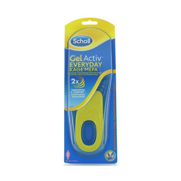 SCHOLL SOLETTE GEL ACTIV EVERY DAY DONNA TAGLIA 35.5-40.5, CURA SCARPE, S143540, 80590