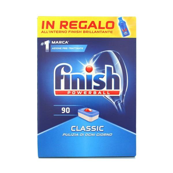 FINISH PASTIGLIE 90 LAVAGGI POWERBALL CLASSIC REGULAR+ FINISH BRILLANTANTE ALL'INTERNO, LAVASTOVIGLIE, S133643, 80621