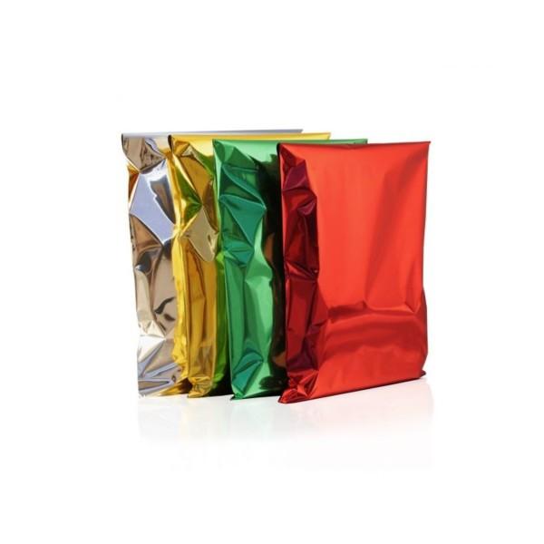 BUSTA REGALO METALLIZZATA VERDE 20x35 50 PZ., CARTA REGALO, NASTRI & COCCARDE, S132328, 80953