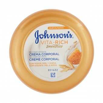 JOHNSON'S CREMA CORPO MIELE E YOGURT 200 ML