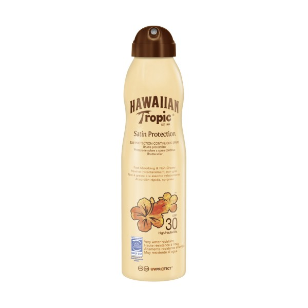 HAWAIIAN TROPIC SATIN PROTECTION SPRAY SPF30 220 ML, SOLARI, S153034, 81089