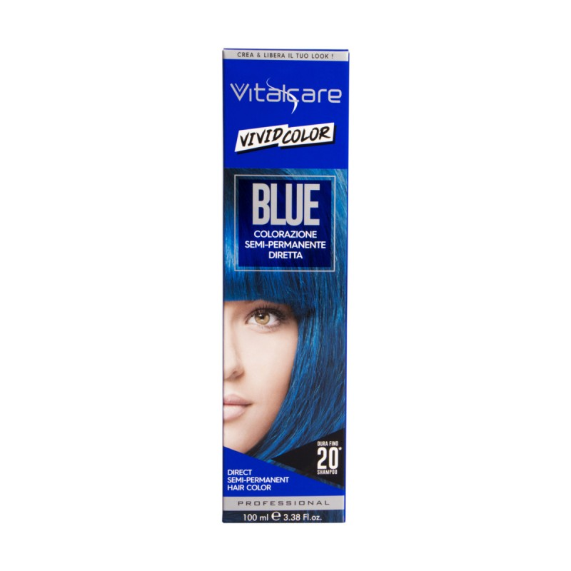 VITALCARE VIVID COLOR BLUE COLORAZIONE CAPELLI SEMI PERMANENTE 100 ML