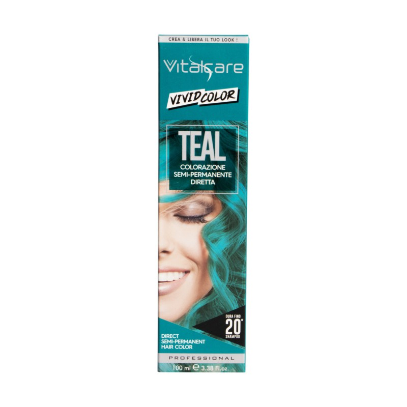 VITALCARE VIVID COLOR TEAL COLORAZIONE CAPELLI SEMI PERMANENTE 100 ML