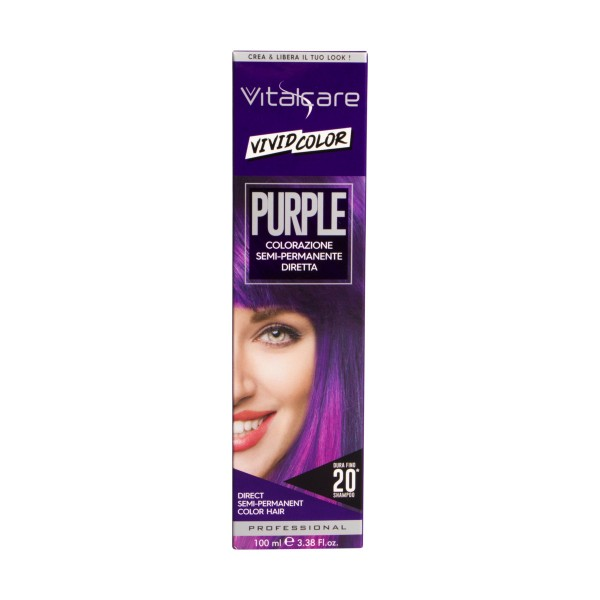 VITALCARE VIVID COLOR PURPLE COLORAZIONE CAPELLI SEMI PERMANENTE 100 ML, COLORANTI, S158074, 81160
